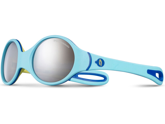 Julbo Loop Spectron 4 Lunettes de soleil 2-4 ans Enfant, sky blue/yellow/blue-gray flash silver
